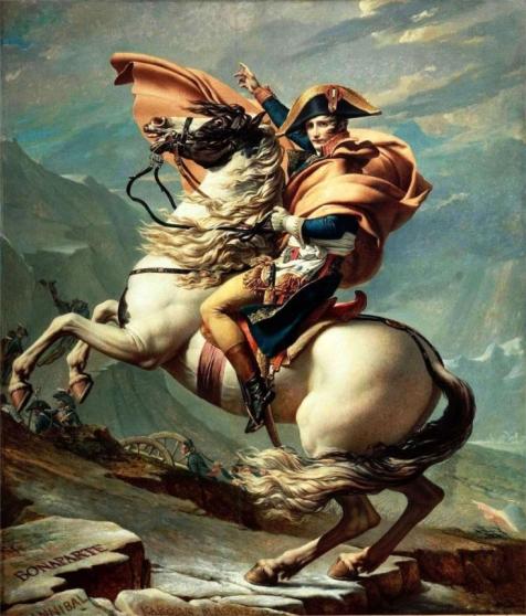 Napoleone-che-attraversa-le-Alpi-versione-Malmaison-analisi